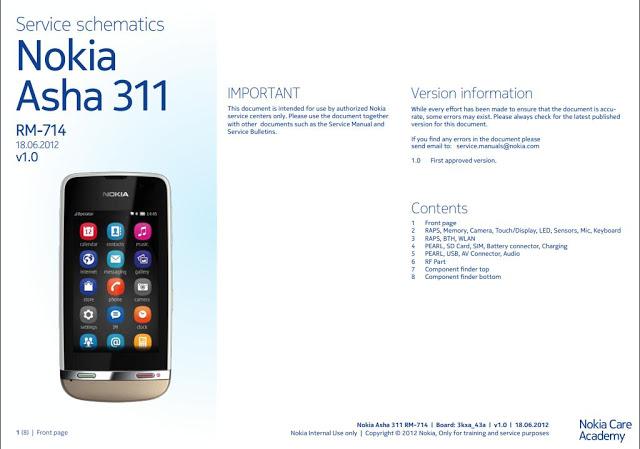 Nokia 311 service schematics