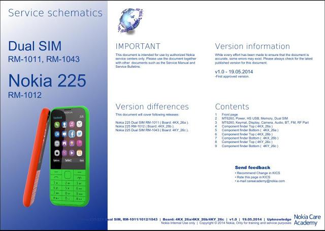 Nokia 225 service schematics