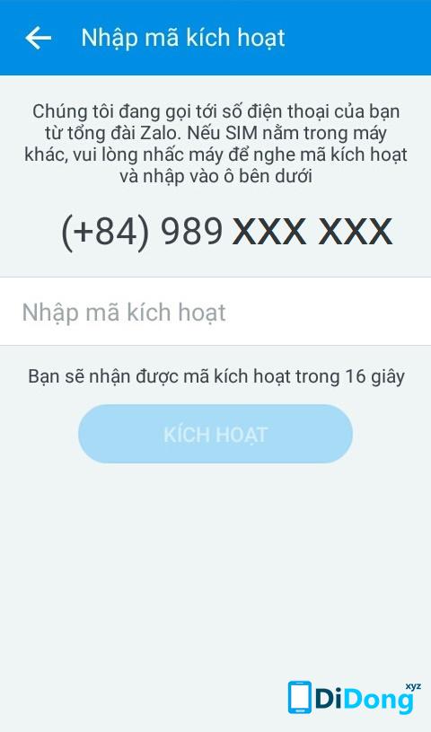 khoi phuc mat khau zalo