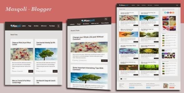 Masqoli – Giao diện Responsive dành cho Blogger