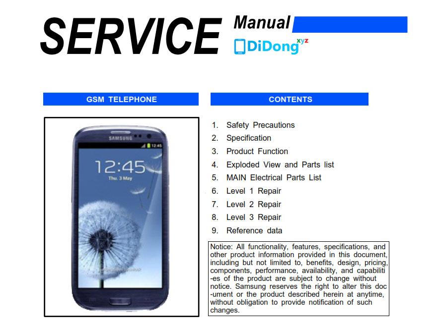 Samsung Galaxy S3 i9300 Schematics