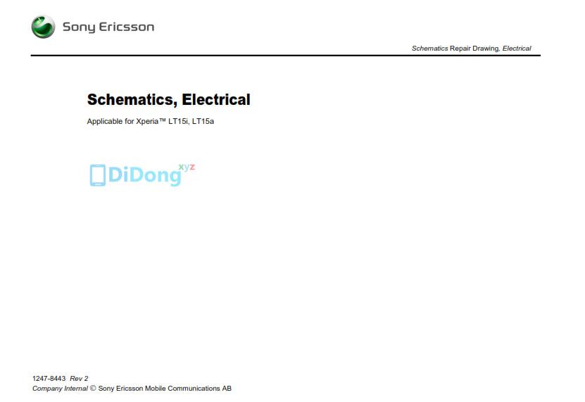 Sony Ericsson Xperia Lt15i  Lt15a Schematics