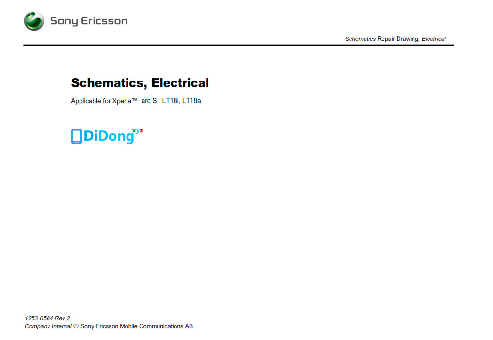 Sony Ericsson Xperia LT18i, LT18a Schematics
