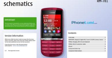 Nokia Asha 300 RM-781 service schematics
