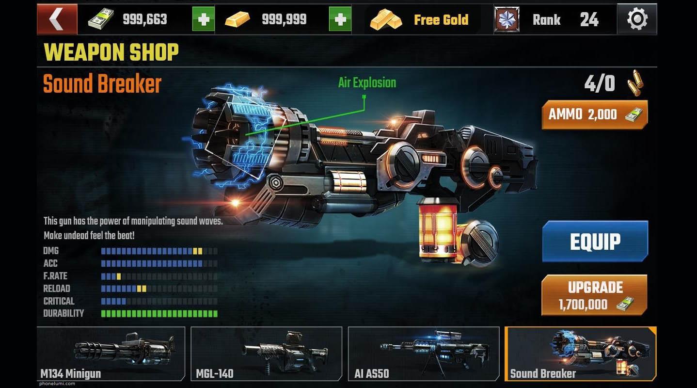 Tải game Dead Target: Zombie full tiền vàng