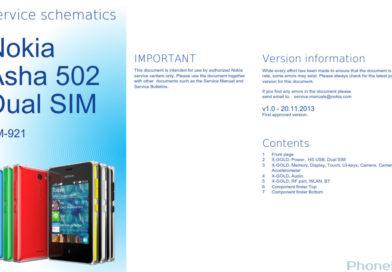 Nokia Asha 502 RM-921 service schematics