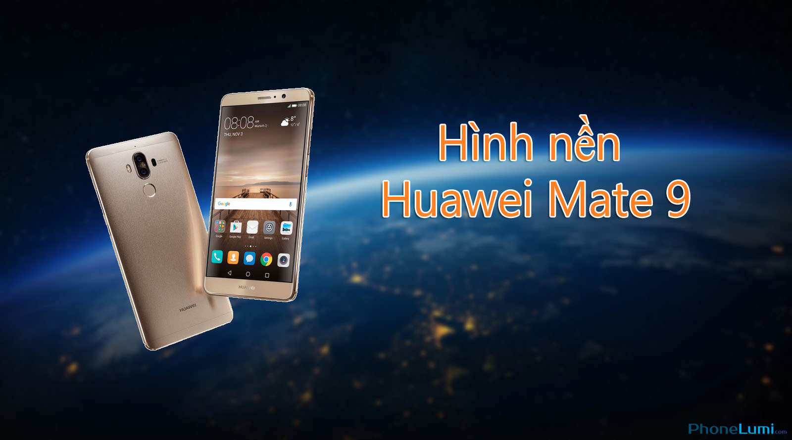 Hình nền chính thức của Huawei Mate 9