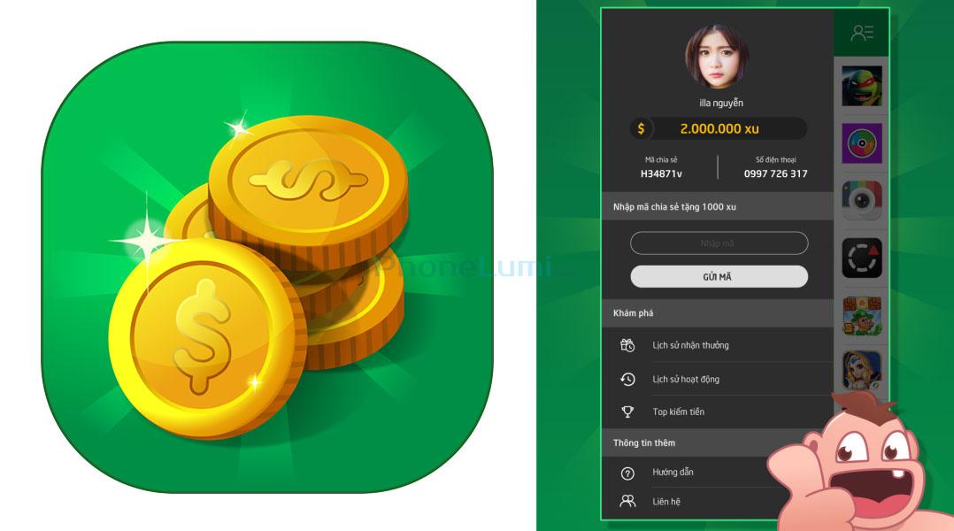 Kiếm thẻ cào miễn phí trên Android với ứng dụng Ting Ting