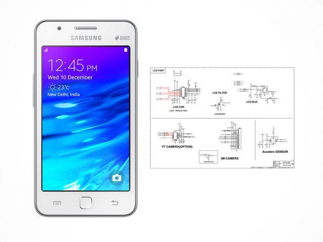 Samsung Z1 SM-Z130H schematics